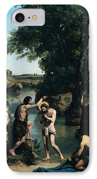 The Baptism Of Christ IPhone Case by Jean Baptiste Camille Corot