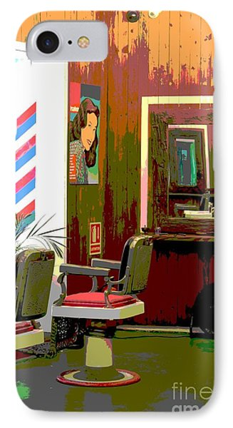 The Barber Shop Phone Case by Sophie Vigneault