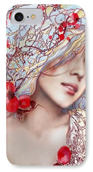 IPhone Case featuring the painting The Barberry by Anna Ewa Miarczynska