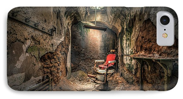 The Barber's Chair -the Demon Barber IPhone Case by Gary Heller