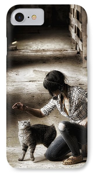 The Barn Cat IPhone Case by Ron  McGinnis