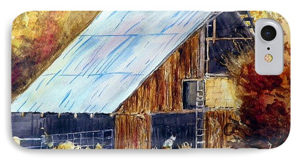 IPhone Case featuring the painting The Barn Mouser by Sherril Porter