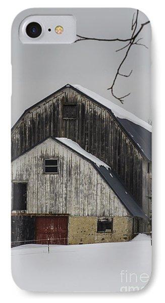 The Barn With A Red Door Phone Case by Deborah Smolinske