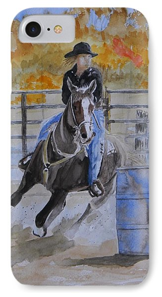 The Barrel Race IPhone Case by Warren Thompson