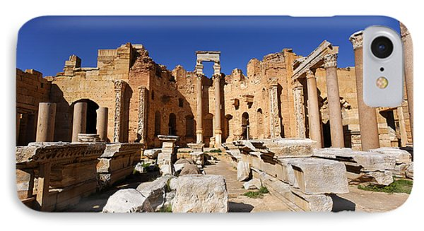 The Basilica Of Severus At Leptis Magna In Libya IPhone Case by Robert Preston