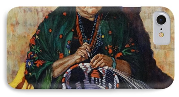 IPhone Case featuring the painting The Basket Weaver by Charles Munn