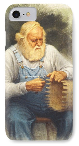 The Basketmaker In Pastel Phone Case by Paul Krapf