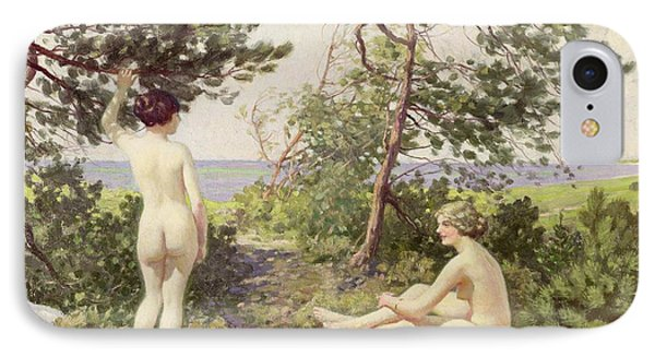 The Bathers Phone Case by Paul Fischer