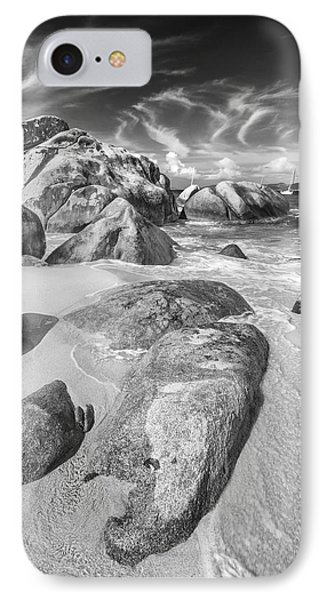 The Baths In Black And White IPhone Case by Adam Romanowicz