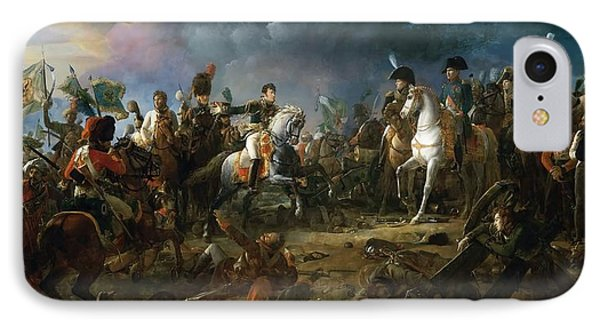 The Battle Of Austerlitz IPhone Case by Baron Francois Gerard