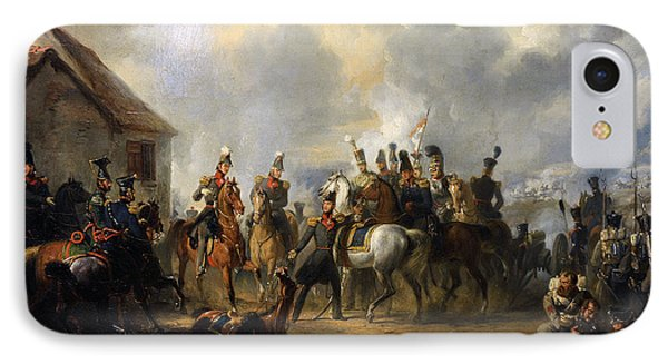 The Battle Of Bautersem During The Ten Days Campaign, 1833, By Nicolaas Pieneman 1809-1860 IPhone Case by Bridgeman Images