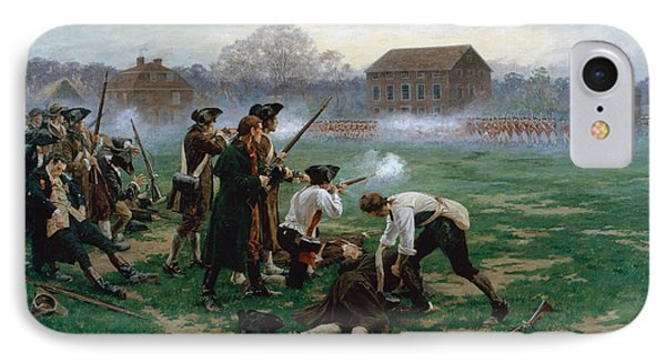 The Battle Of Lexington, 19th April 1775 IPhone Case by William Barnes Wollen