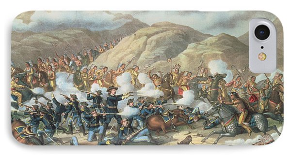 The Battle Of Little Big Horn, June 25th 1876 IPhone Case