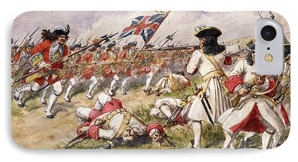 The Battle Of Ramillies, The 16th Foot IPhone Case by Richard Simkin