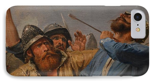 The Battle Of Stamford Bridge Phone Case by Peter Nicolai Arbo