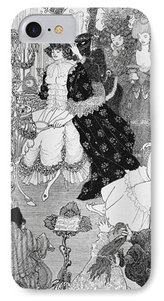 The Battle Of The Beaux And The Belles Phone Case by Aubrey Beardsley