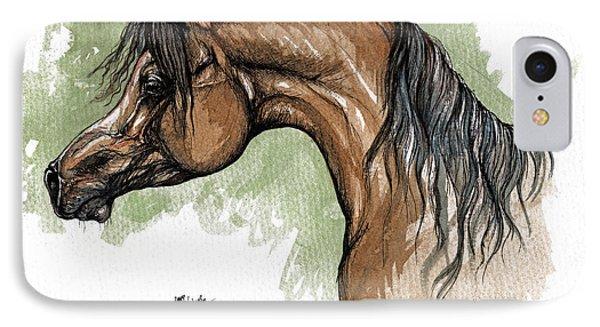 The Bay Arabian Horse 12 Phone Case by Angel  Tarantella