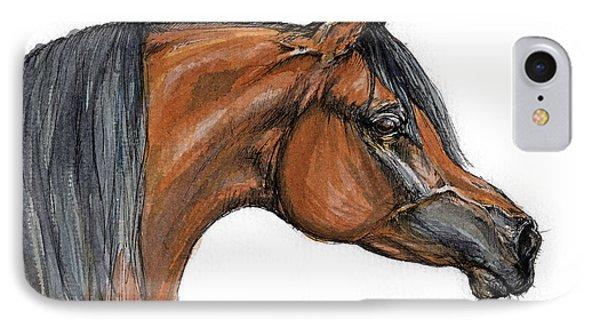 The Bay Arabian Horse 18 Phone Case by Angel  Tarantella