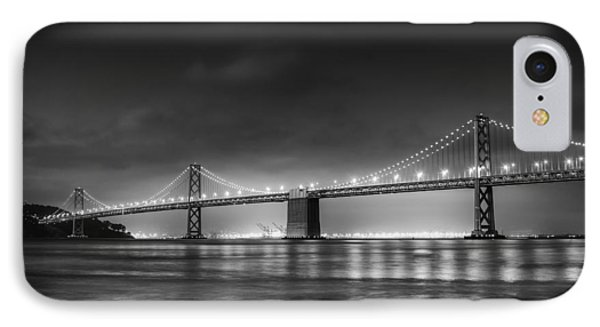 The Bay Bridge Monochrome IPhone Case by Scott Norris