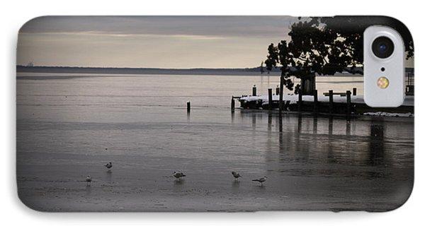 The Bay Is Frozen Phone Case by Carolyn Ricks