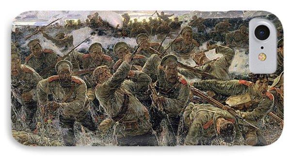The Bayonet Fighting, 1904 Oil On Canvas IPhone Case by Pyotr Pavlovich Karyagin