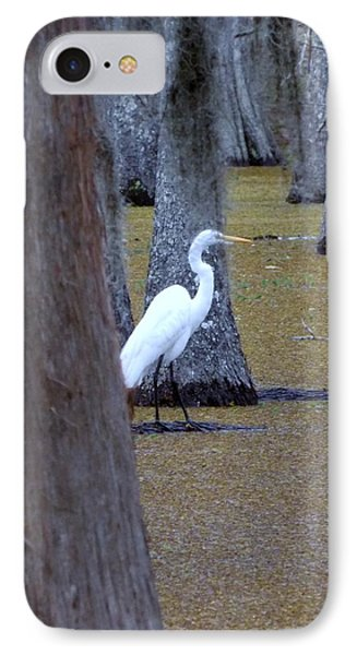 IPhone Case featuring the photograph The Bayou's White Knight by John Glass