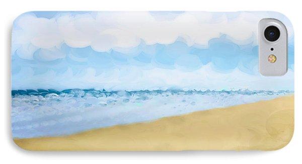 The Beach Abstract Art Phone Case by Ann Powell