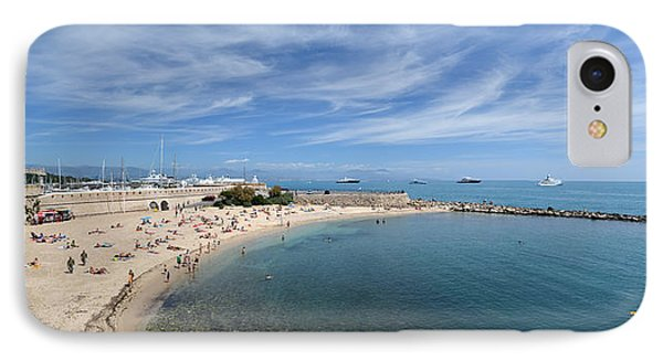 IPhone Case featuring the photograph The Beach At Cap D' Antibes by Allen Sheffield