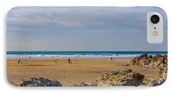 The Beach At Porthtowan Cornwall Phone Case by Brian Roscorla