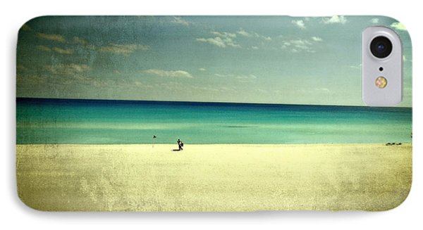 The Beach - From My Iphone IPhone Case by Mary Machare