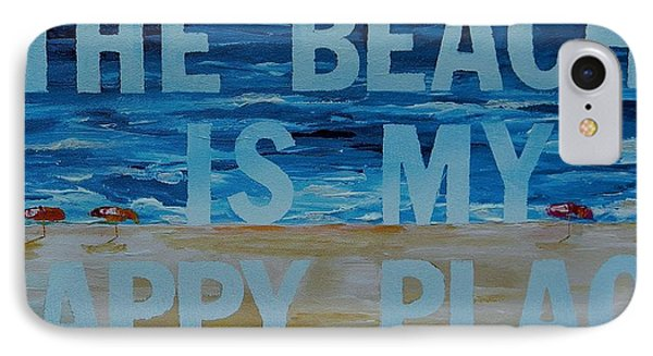 The Beach In My Happy Place Two Phone Case by Patti Schermerhorn