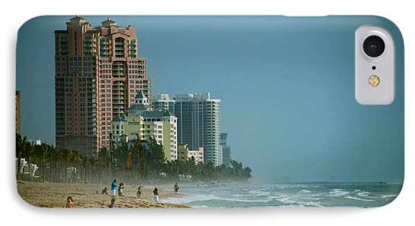 The Beach Near Fort Lauderdale IPhone Case by Eric Tressler