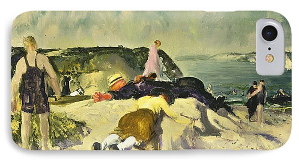 The Beach Newport Phone Case by George Wesley Bellows