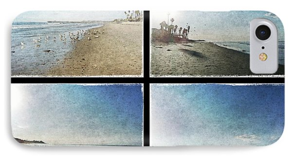 The Beaches Of San Clemente Collage Phone Case by Traci Lehman