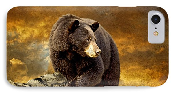The Bear Went Over The Mountain IPhone Case by Lois Bryan