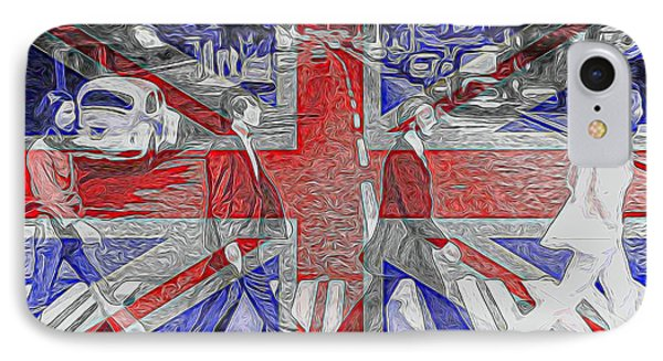 The Beatles Abbey Road Uk Flag IPhone Case by Dan Sproul