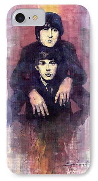 The Beatles John Lennon And Paul Mccartney Phone Case by Yuriy  Shevchuk