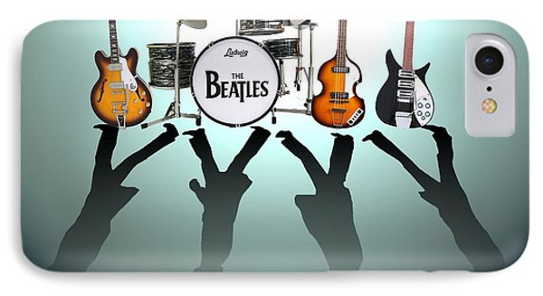 Drum iPhone 7 Case - The Beatles by Lena Day