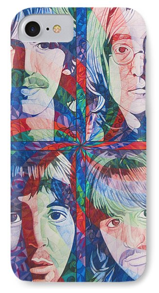 The Beatles Squared Phone Case by Joshua Morton