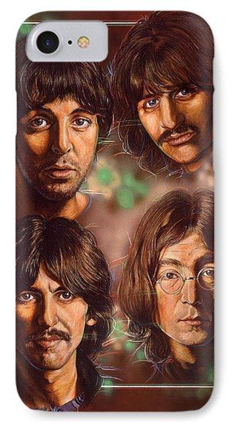 The Beatles Phone Case by Tim  Scoggins