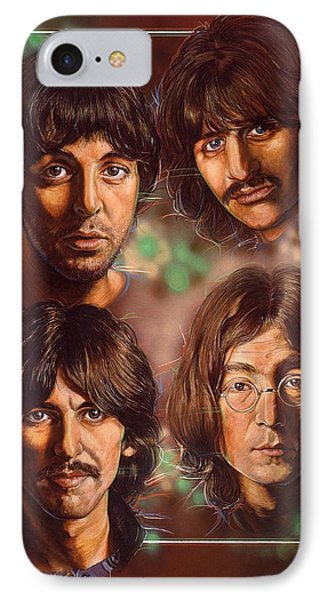 The Beatles IPhone Case by Tim  Scoggins