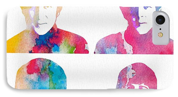 The Beatles Watercolor Collage IPhone Case by Dan Sproul