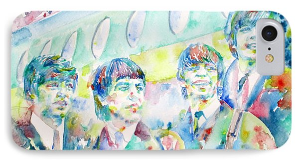 The Beatles - Watercolor Portrait.3 IPhone Case