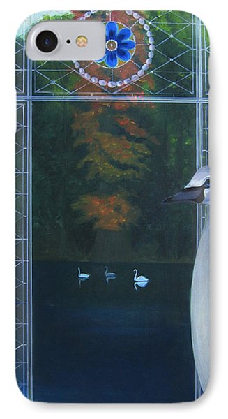 IPhone Case featuring the painting The Beautiful Duckling by Tone Aanderaa
