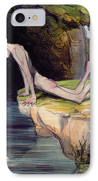 The Beautiful Narcissus Phone Case by Honore Daumier