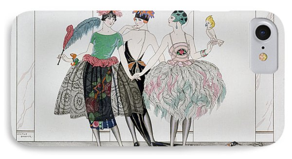 Parakeet iPhone 7 Case - The Beautiful Savages by Georges Barbier