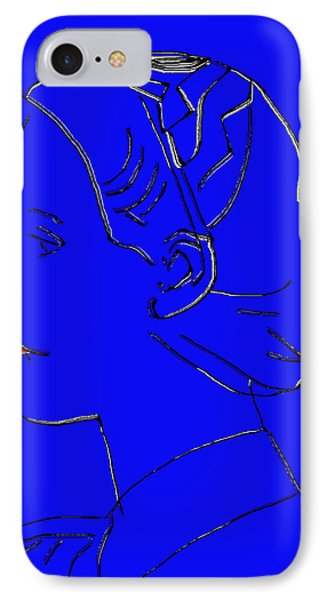 The Beautiful Virgin Chambermaid Blue Phone Case by Sir Josef - Social Critic - ART