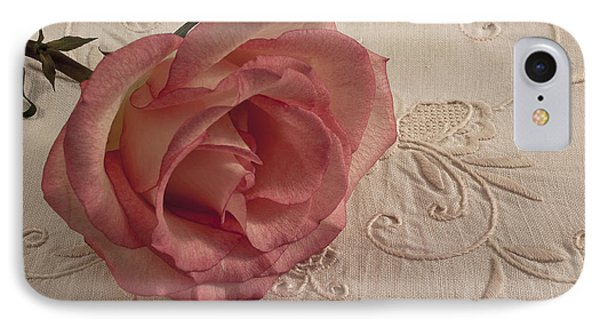 IPhone Case featuring the photograph The Beauty Of Just One Rose by Sandra Foster