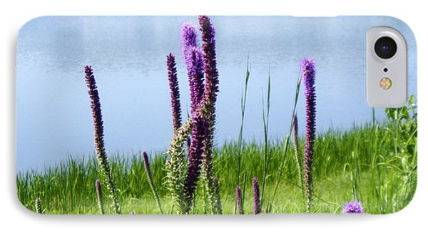 IPhone Case featuring the photograph The Beauty Of The Liatris by Verana Stark