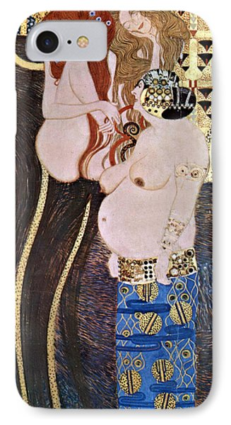 The Beethoven Frieze IPhone Case by Gustive Klimt